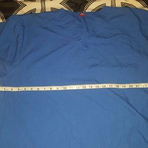 Tops - Size 2X Royal Blue Scrub top.